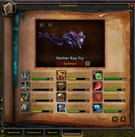 WoW Companion Loyalty UI