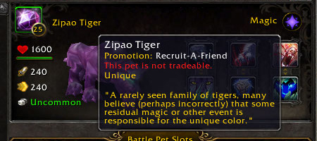 PTR Pet Journal: Zipao Tiger