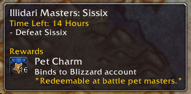 New Pet Battle World Quests