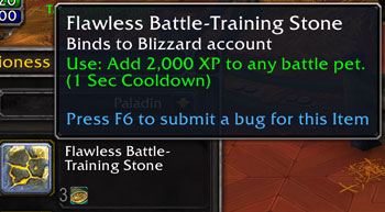 Upcoming changed Flawless Battle-Training Stone