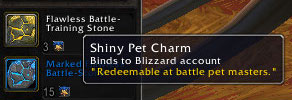 Shiny Pet Charms accepted by BFA vendors
