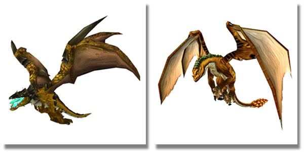 Bronze Proto-Whelp and Ageless Bronze Drake