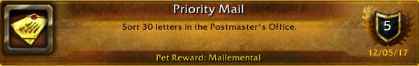 Priority Mail achievement