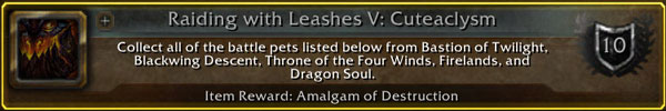 Raiding With Leashes V: Cuteaclysm
