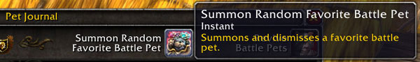 New Summon Random Favorite Pet button