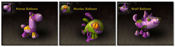 New Darkmoon Faire balloon pets