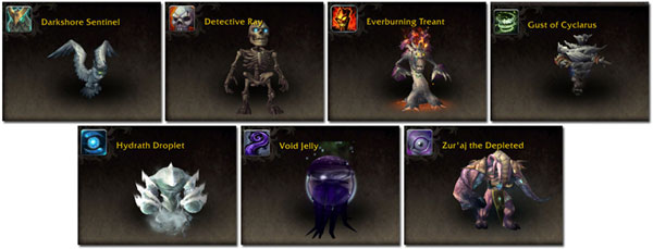7 new Battle for Darkshore Warfront pets