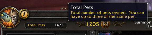 Pet Journal cap removed in 9.1