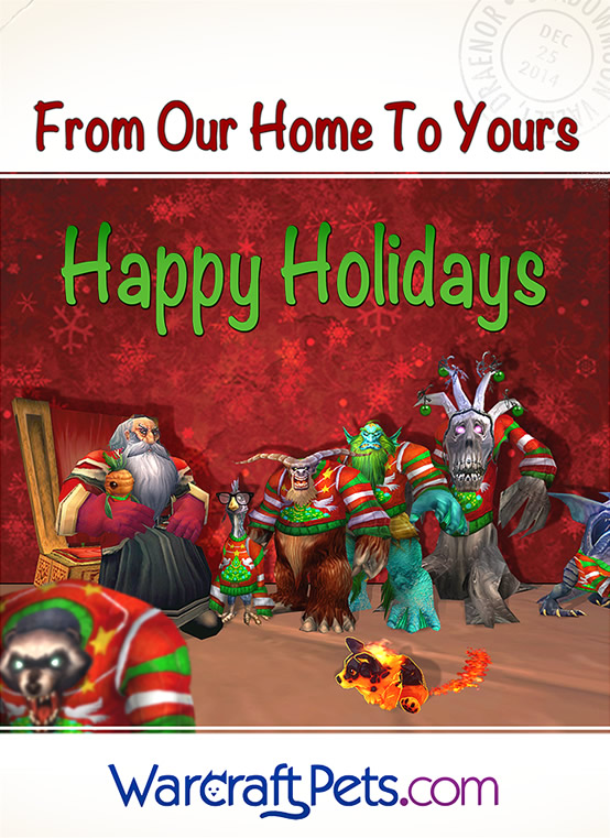 WarcraftPets Awkward Family Holiday Photo - Season's Greetings!