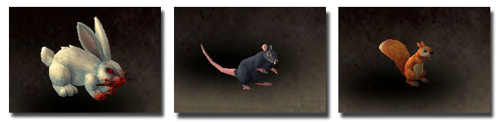 Darkmoon Rabbit, Rat, and Squirrel model updates