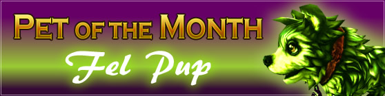 Fel Pup - Pet of the Month: July 2015