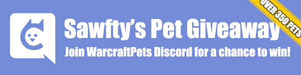 Sawfty's Pet Giveaway in WarcraftPets Discord Channel