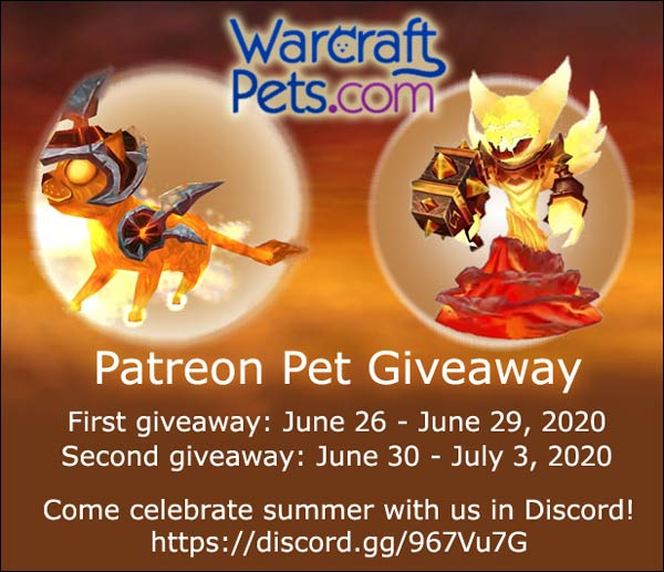 WarcraftPets' summer pet giveaway