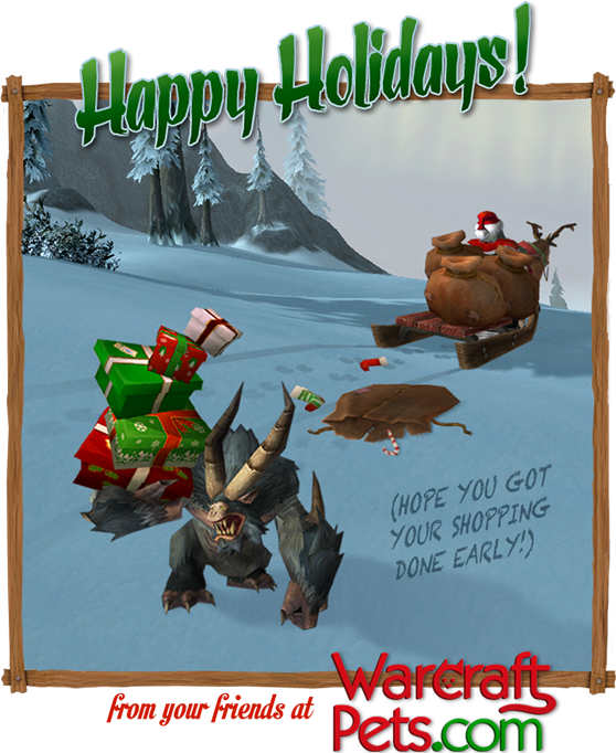 Season's Greetings! Hope you got your shopping done early!