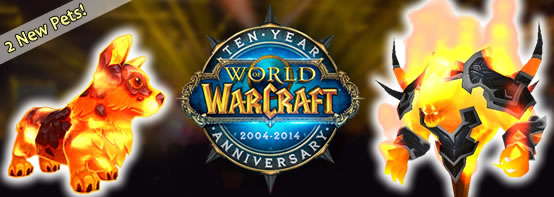 WoW's 10th Anniversary - two new pets