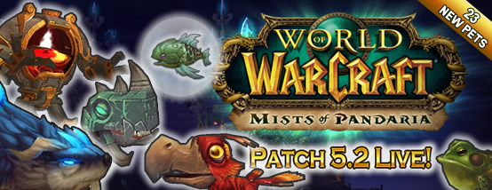 Patch 5.2 is Live with 23 New Pets!