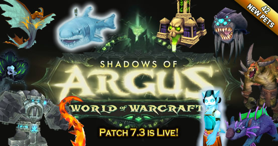 Patch 7.3 - 42 new pets!
