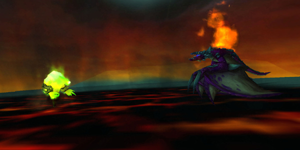 Fel Flame using Scorched Earth