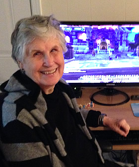 Donna Glee Reim (a.k.a. Grannyglee) playing WoW