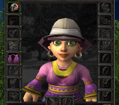 Safari Hat equipped