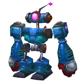 Blue Clockwork Rocket Bot
